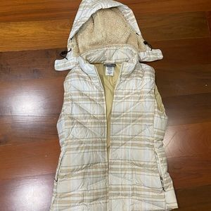 Patagonia women's down vest, size M